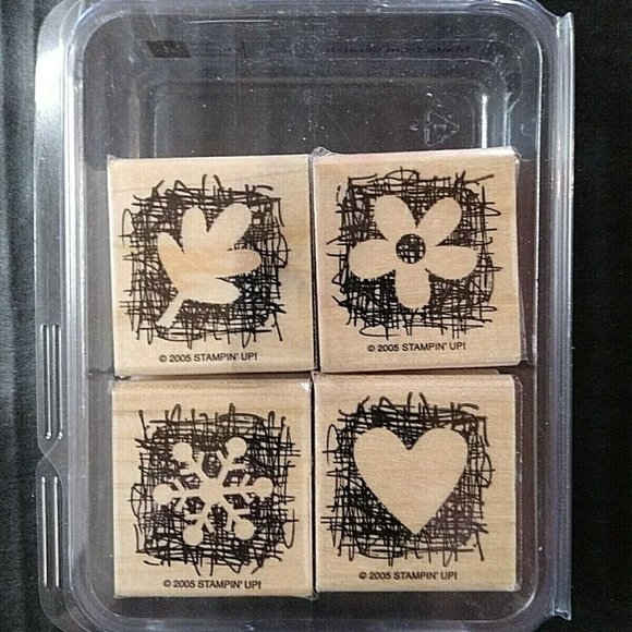 Stampin' Up Rubber Stamp Made From Scratch Set 4